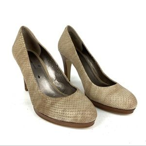 Bandolino | Brown Snakeskin Heel Pumps size 7 1/2